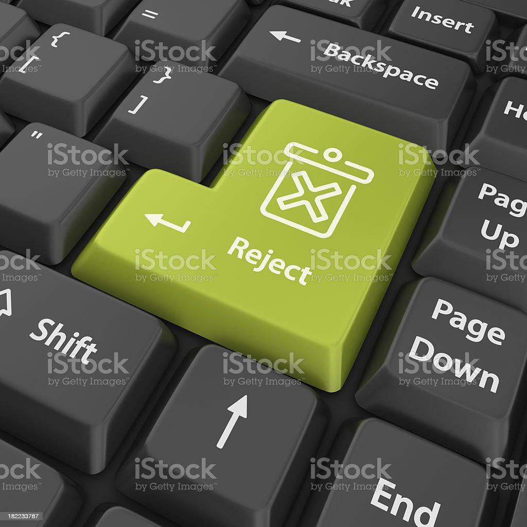 green reject enter button royalty-free stock photo