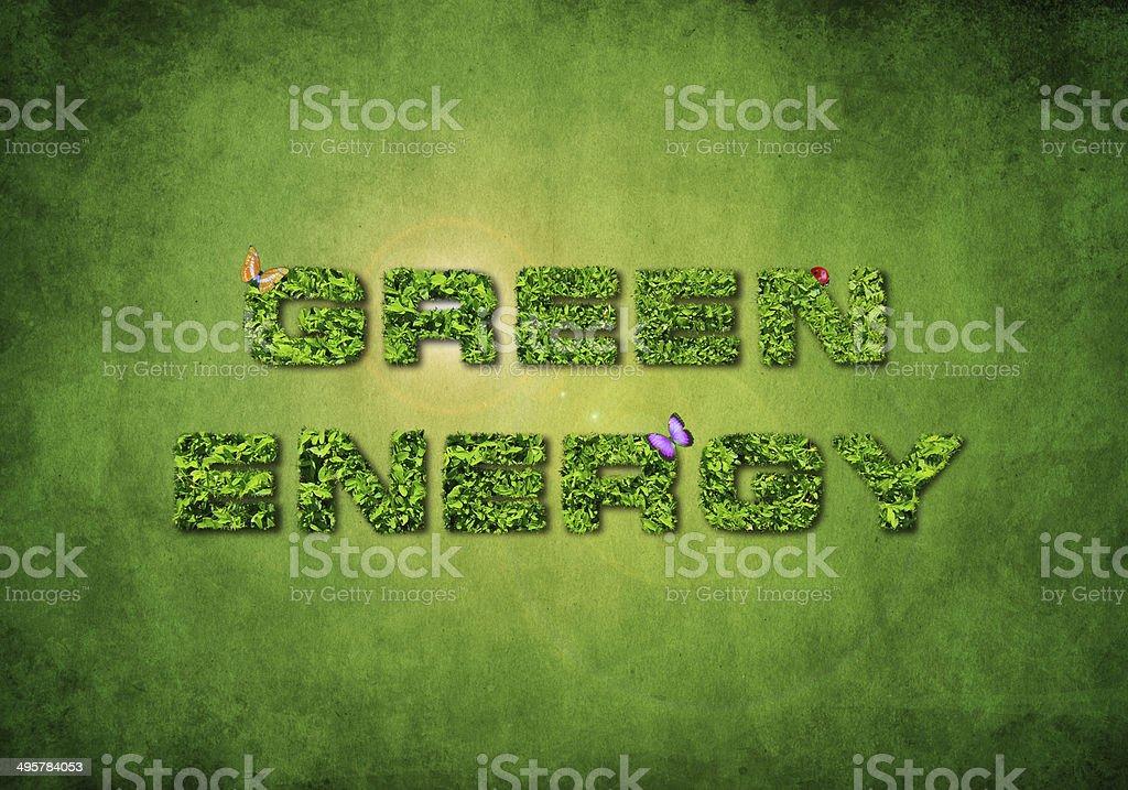 Green Renewable Energy Concept stock photo