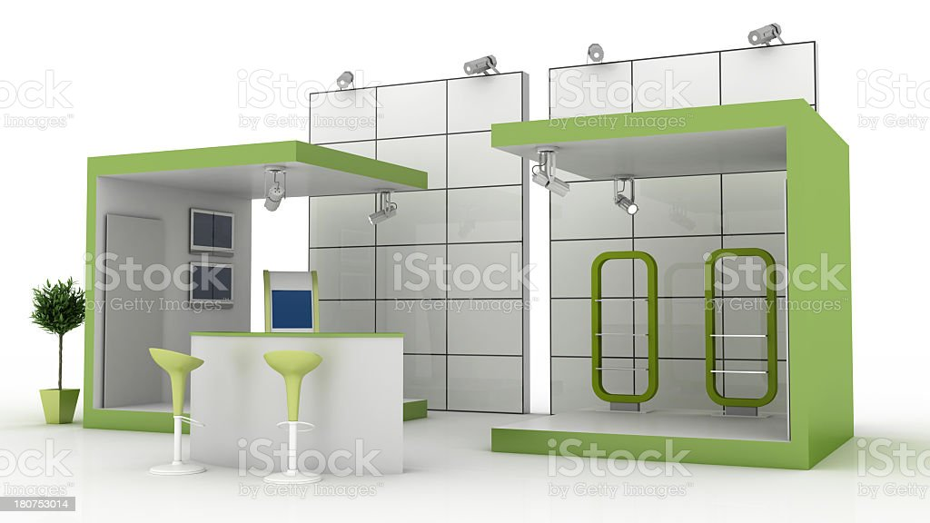 Green retail space stock photo