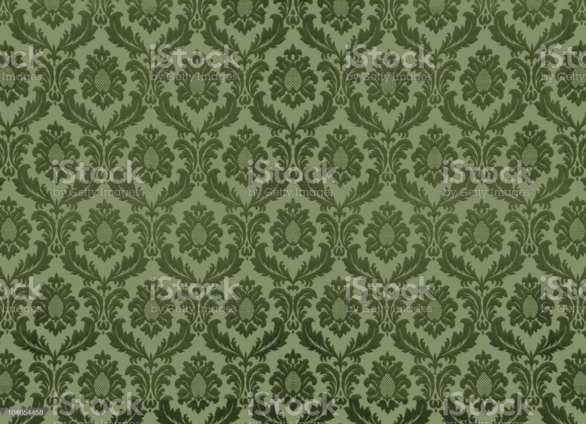 Green retro pattern wallpaper background royalty-free stock photo