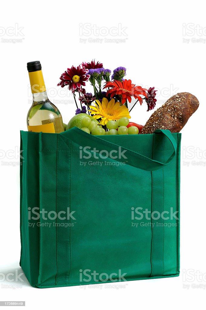 Green Reusable Shopping Bag royalty-free stock photo