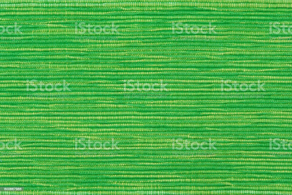 Green ribbed cotton twill fabric stock photo