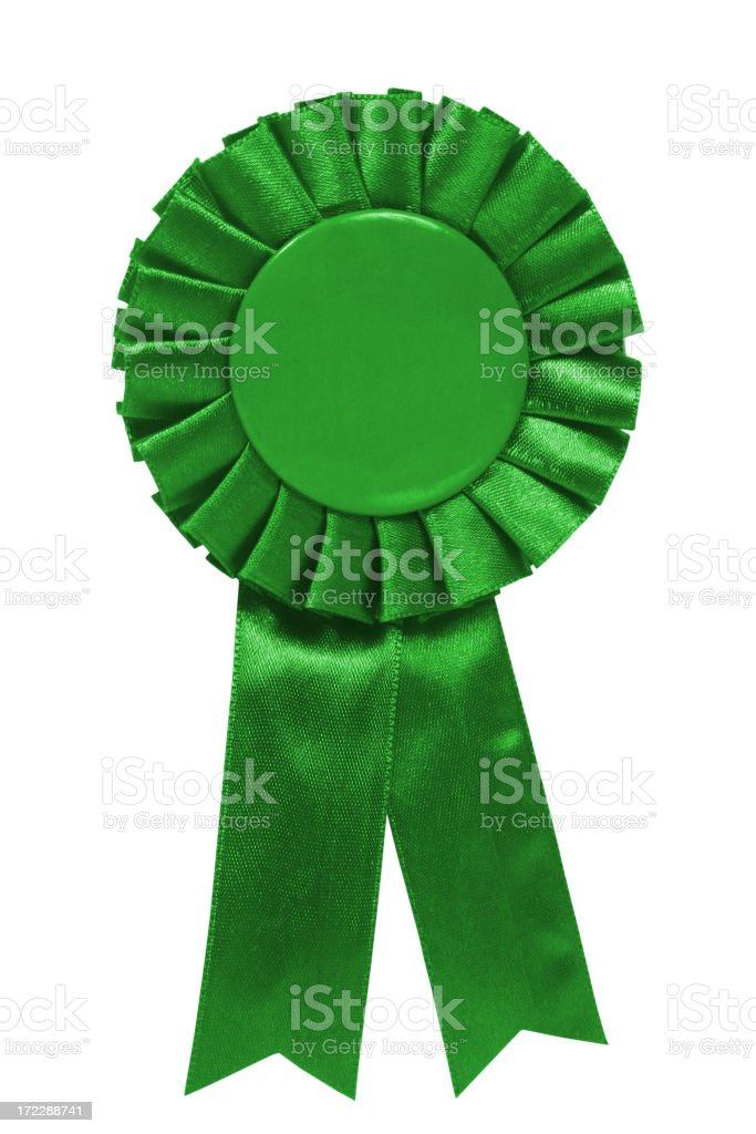 Green ribbon royalty-free stock photo