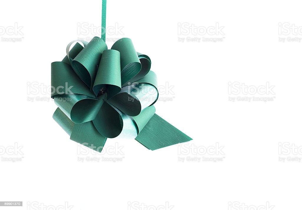 Green ribbon stock photo