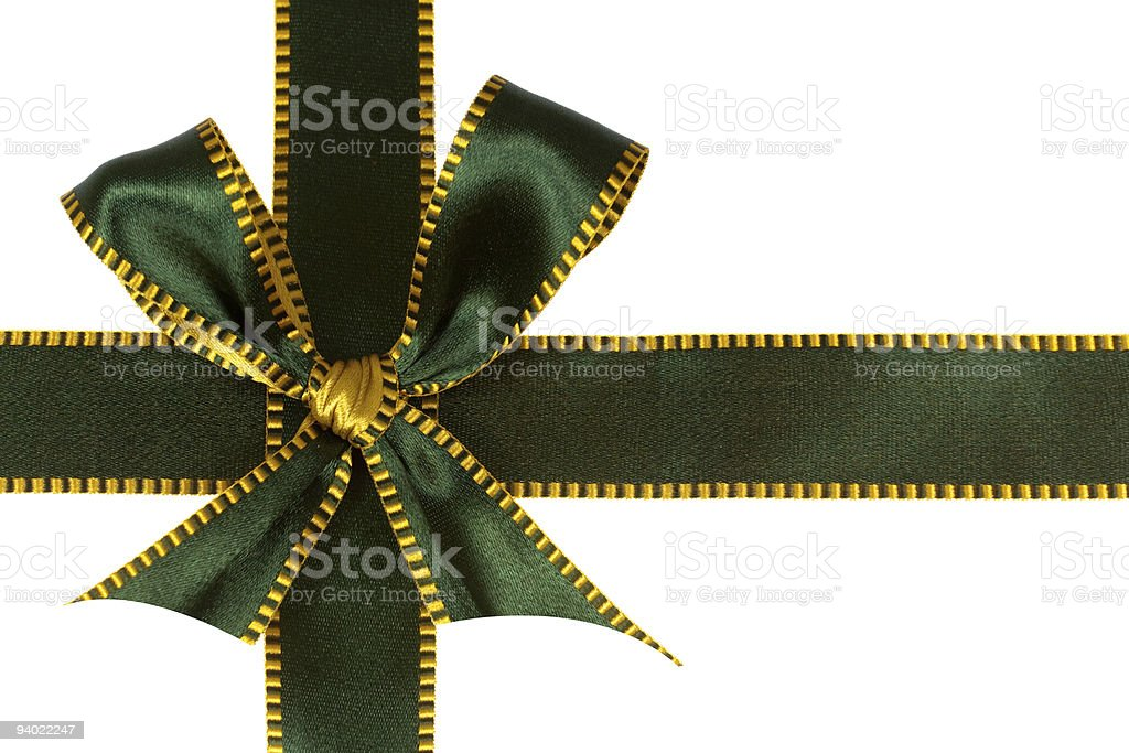 green ribbon,isolated on white royalty-free stock photo