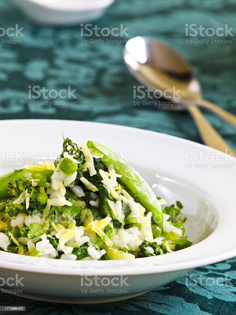 green risotto stock photo