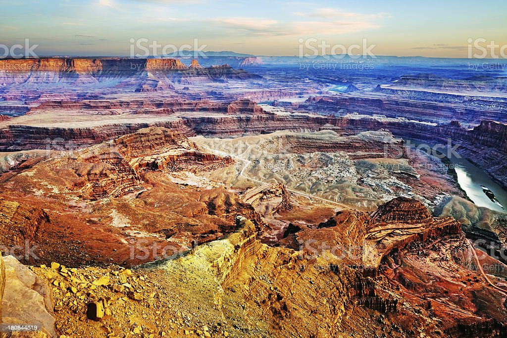 Green River from Dead Horse Point royalty-free stock photo