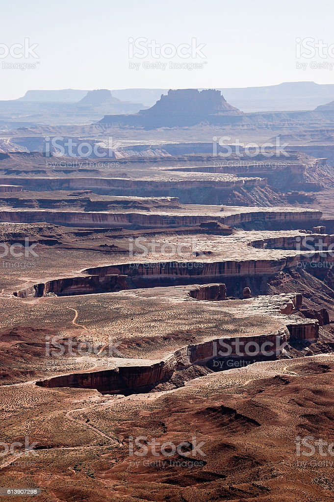 Green River overlook on sunshine, Canyonlands stock photo