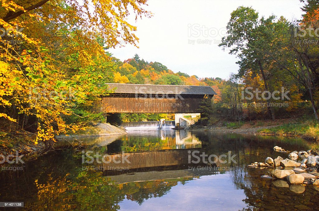 Green River Pumping Station Covered Bridge royalty-free stock photo