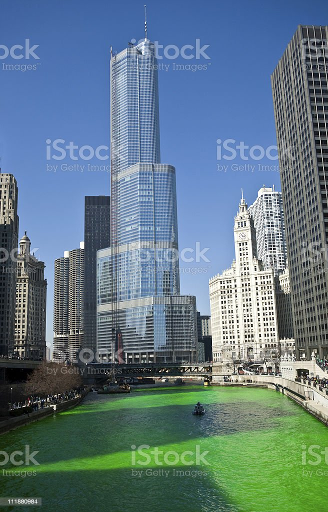 Green River- St. Patrick's Day Celebration,Chicago royalty-free stock photo