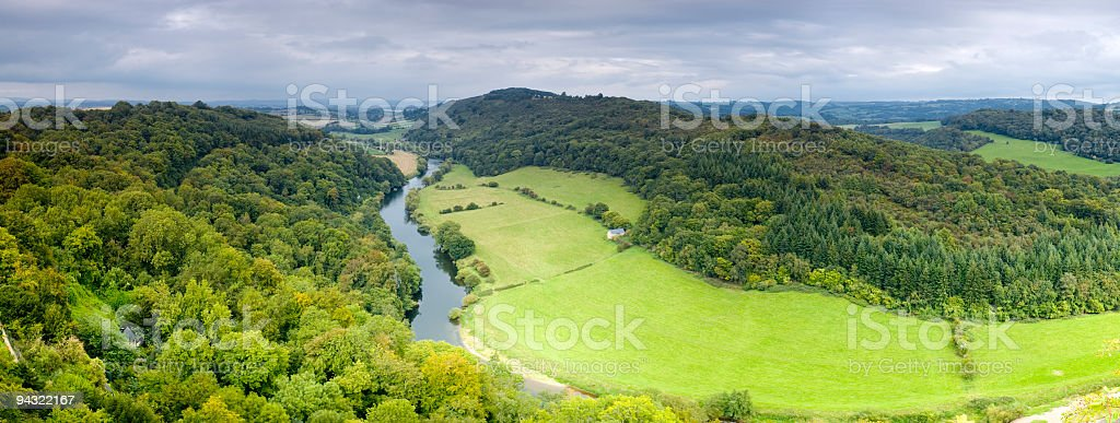 Green river valley stock photo