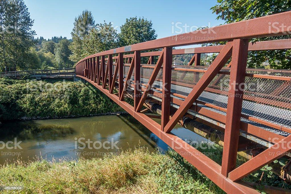Green River Walking Bridge 2 stock photo