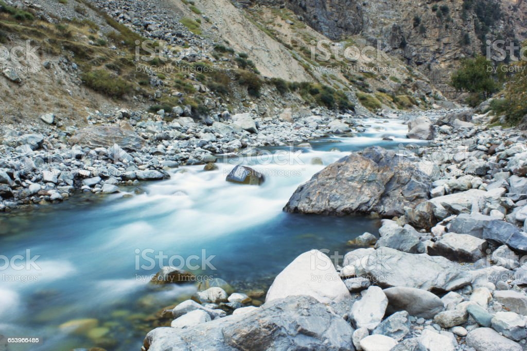 Green river water in Pakistan stock photo
