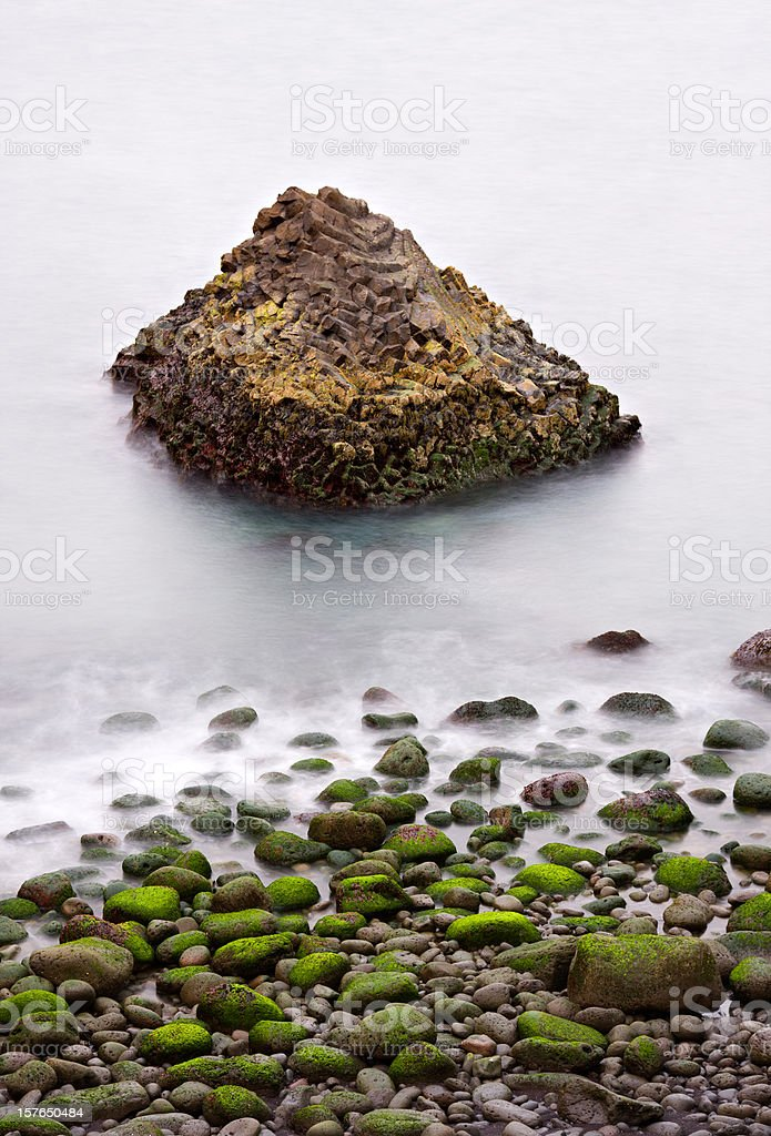 Green Rocks And Basalt Coast stock photo