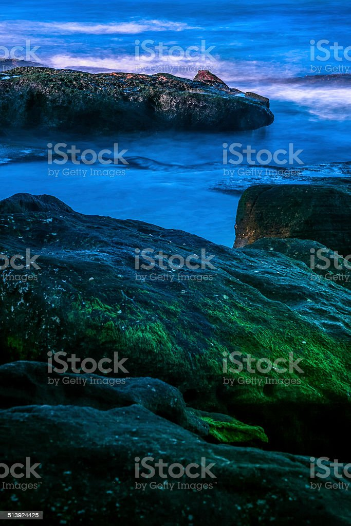 Green rocks and crystal water royalty-free stock photo