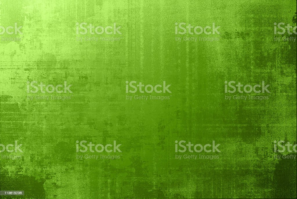 Green rough background with color fading spots stock photo