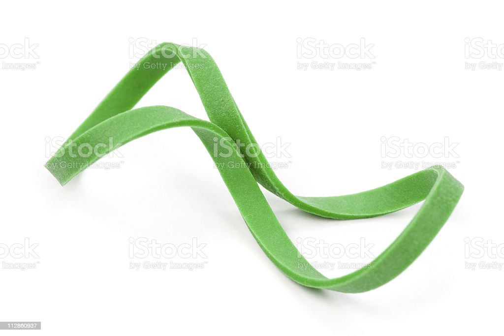 Green Rubber Band stock photo
