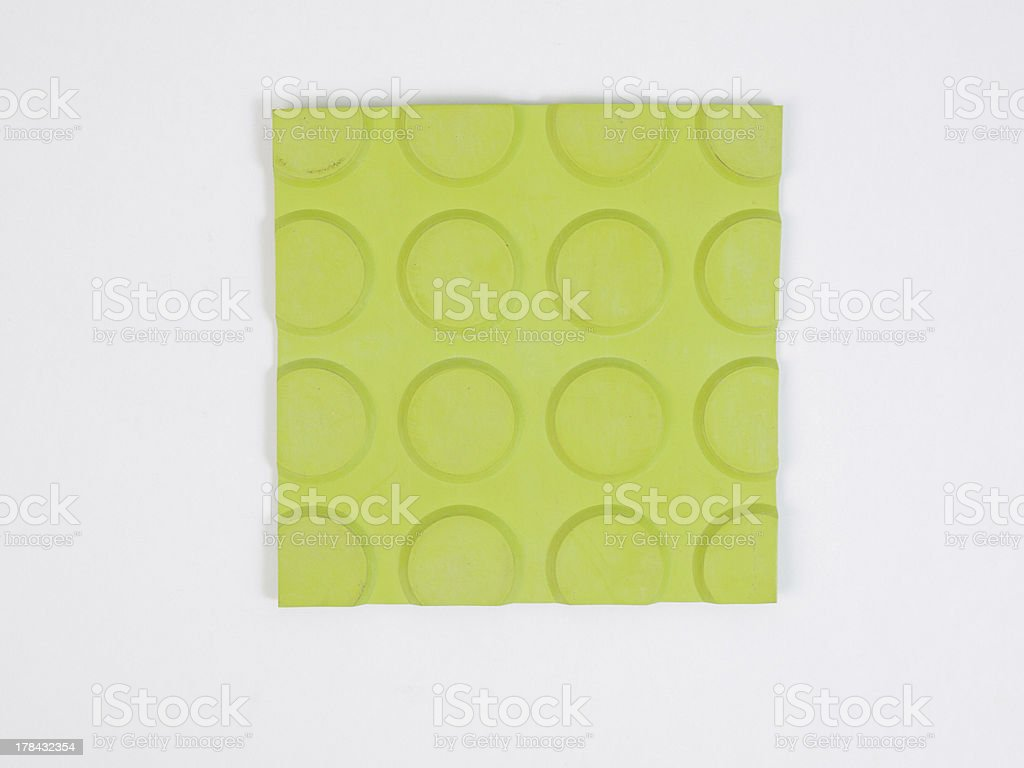 Green rubber linoleum sample royalty-free stock photo