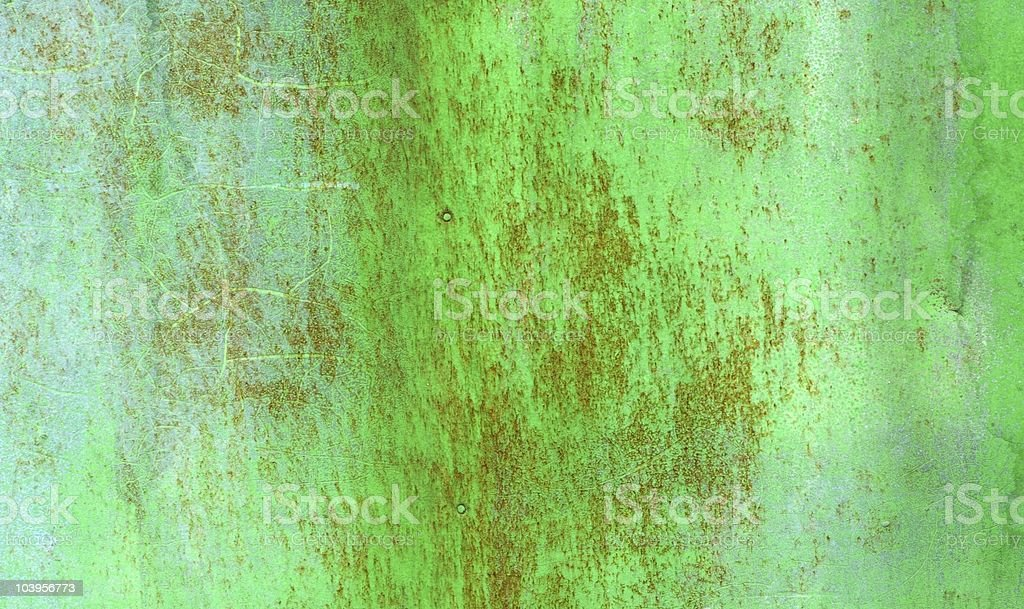 Green rusty metal texture royalty-free stock photo