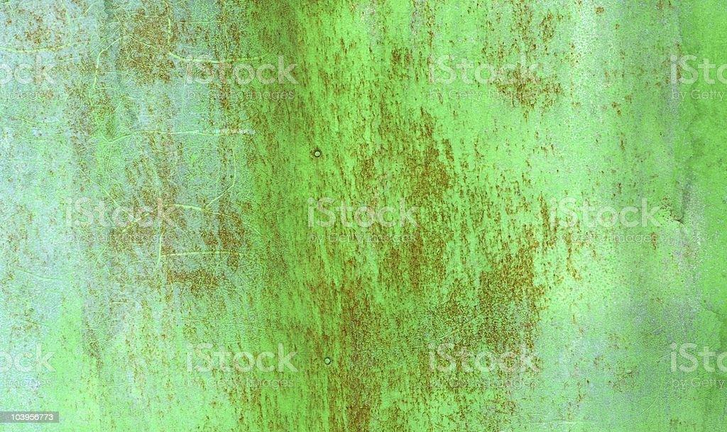 Green rusty metal texture stock photo