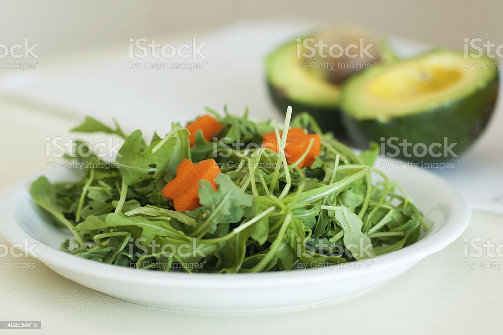 Green Salad and avocado royalty-free stock photo