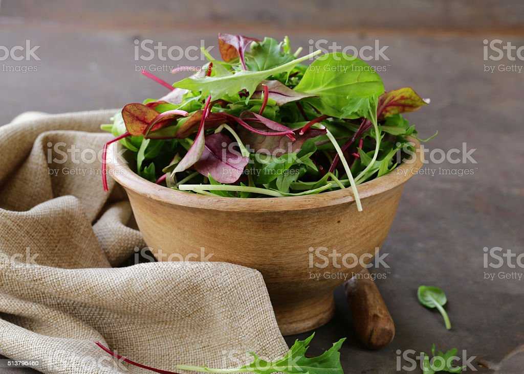 Green salad mix for healthy food diet stock photo
