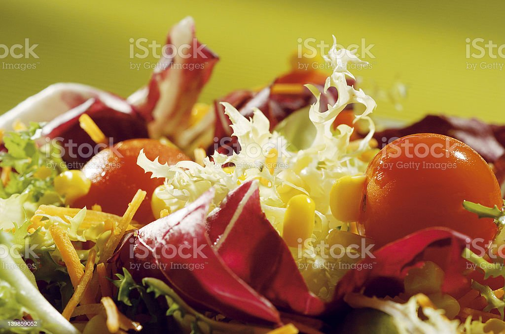 green salad with cherry tomatoes royalty-free stock photo