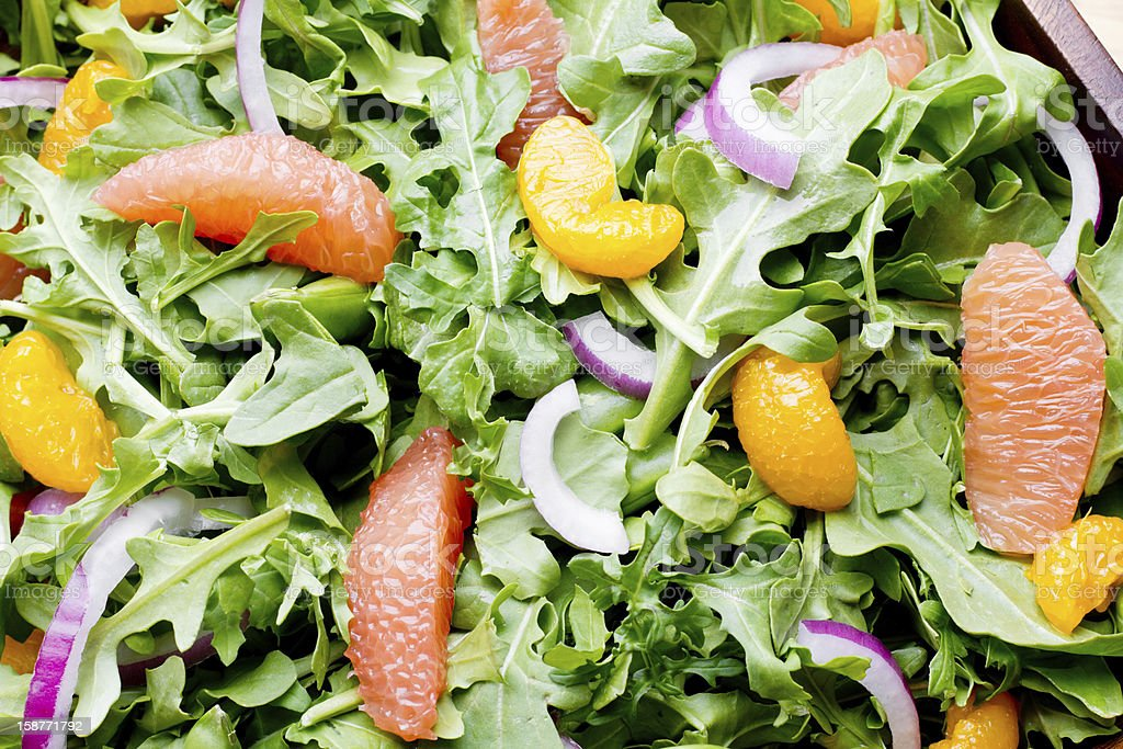 Green Salad with Citrus Fruit royalty-free stock photo