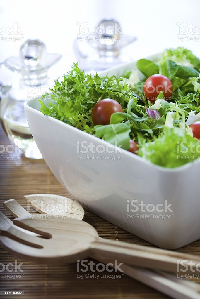 Green salad with tomatoes royalty-free stock photo