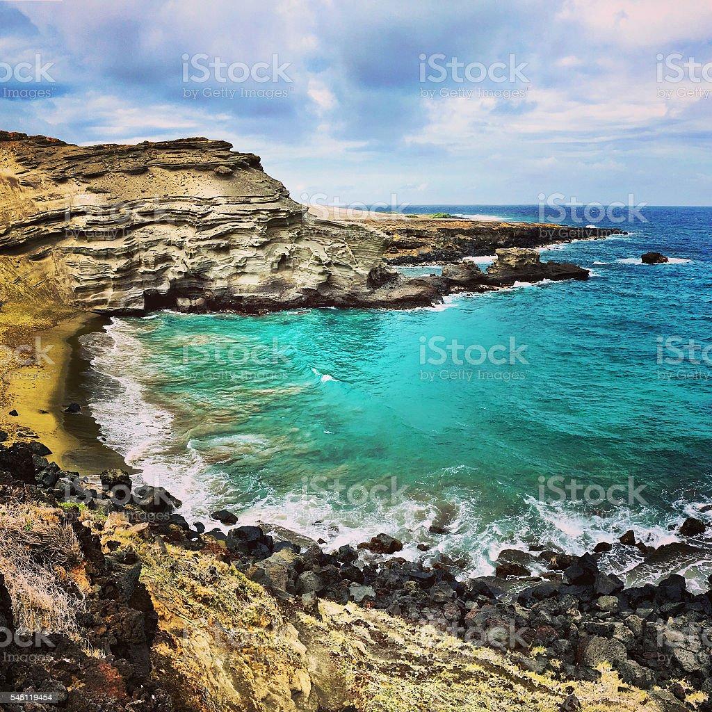 Green Sand Beach stock photo