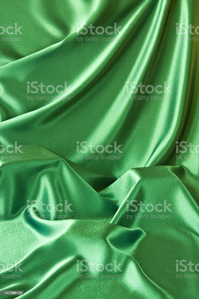 Green Satin Background royalty-free stock photo