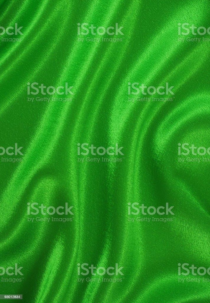 Green satin royalty-free stock photo