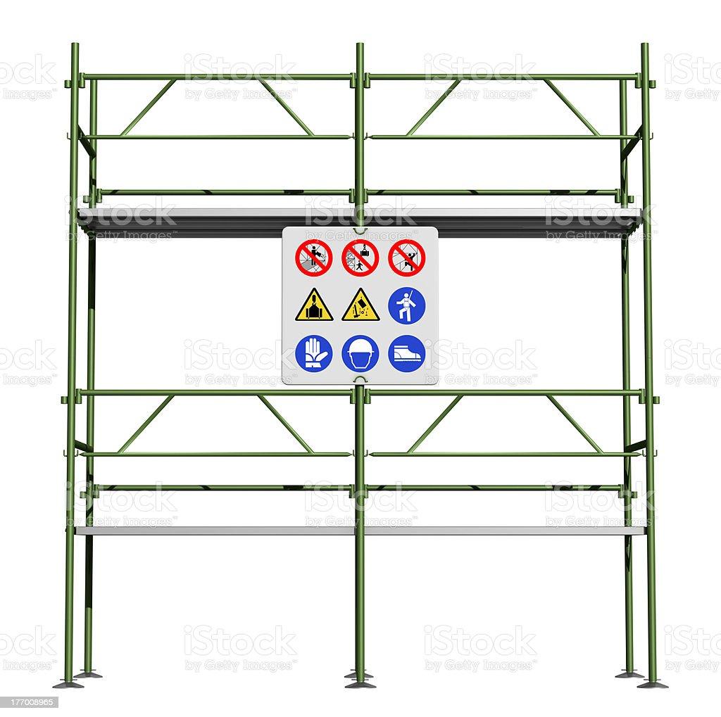 Green scaffold stock photo