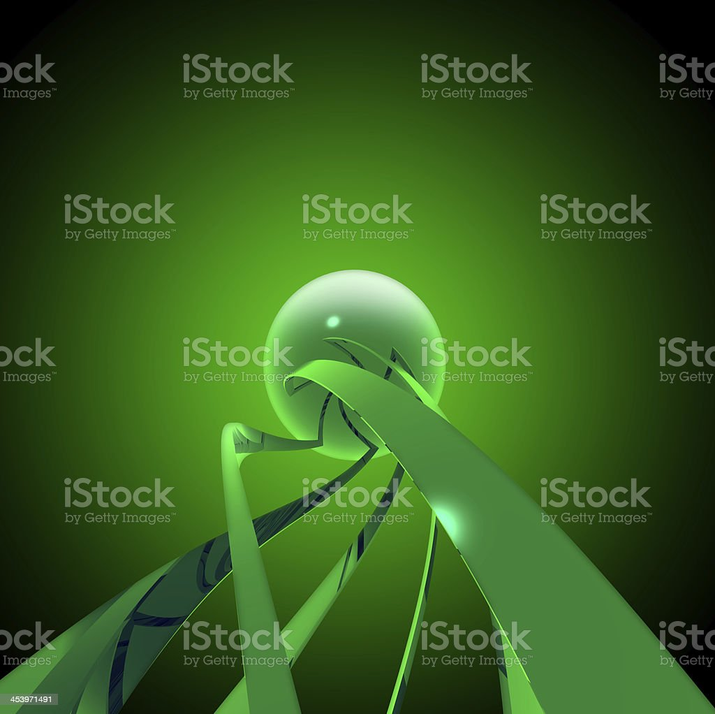 Green sci-fi background stock photo