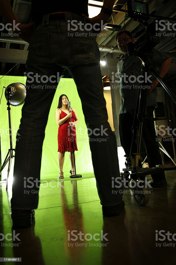 Green Screen Film Shoot royalty-free stock photo