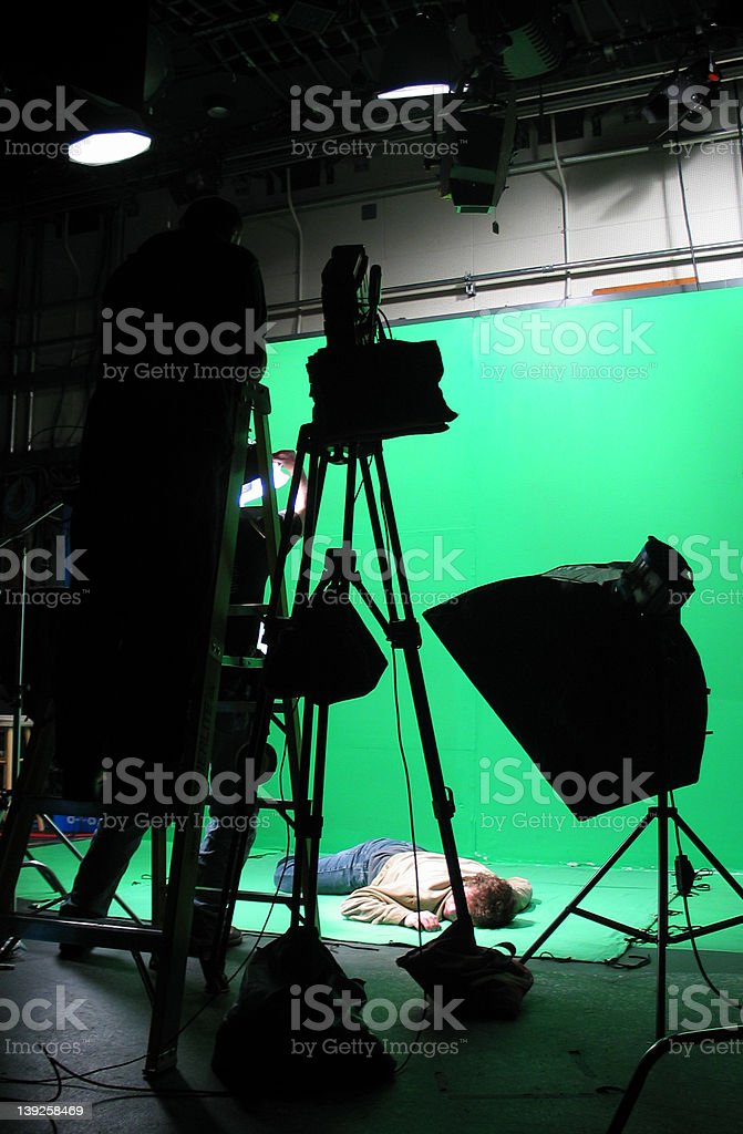 Green Screen Setup stock photo