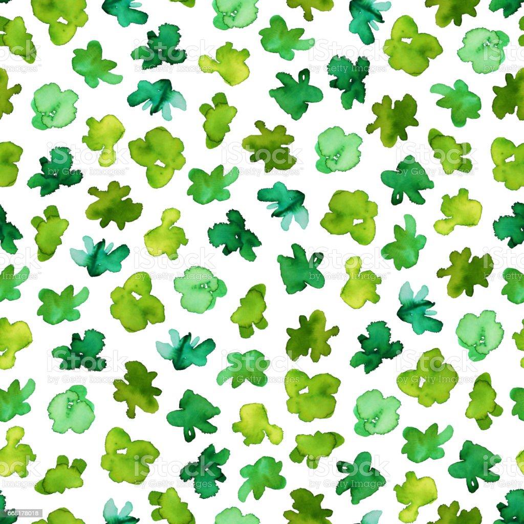 Green seamless pattern. stock photo