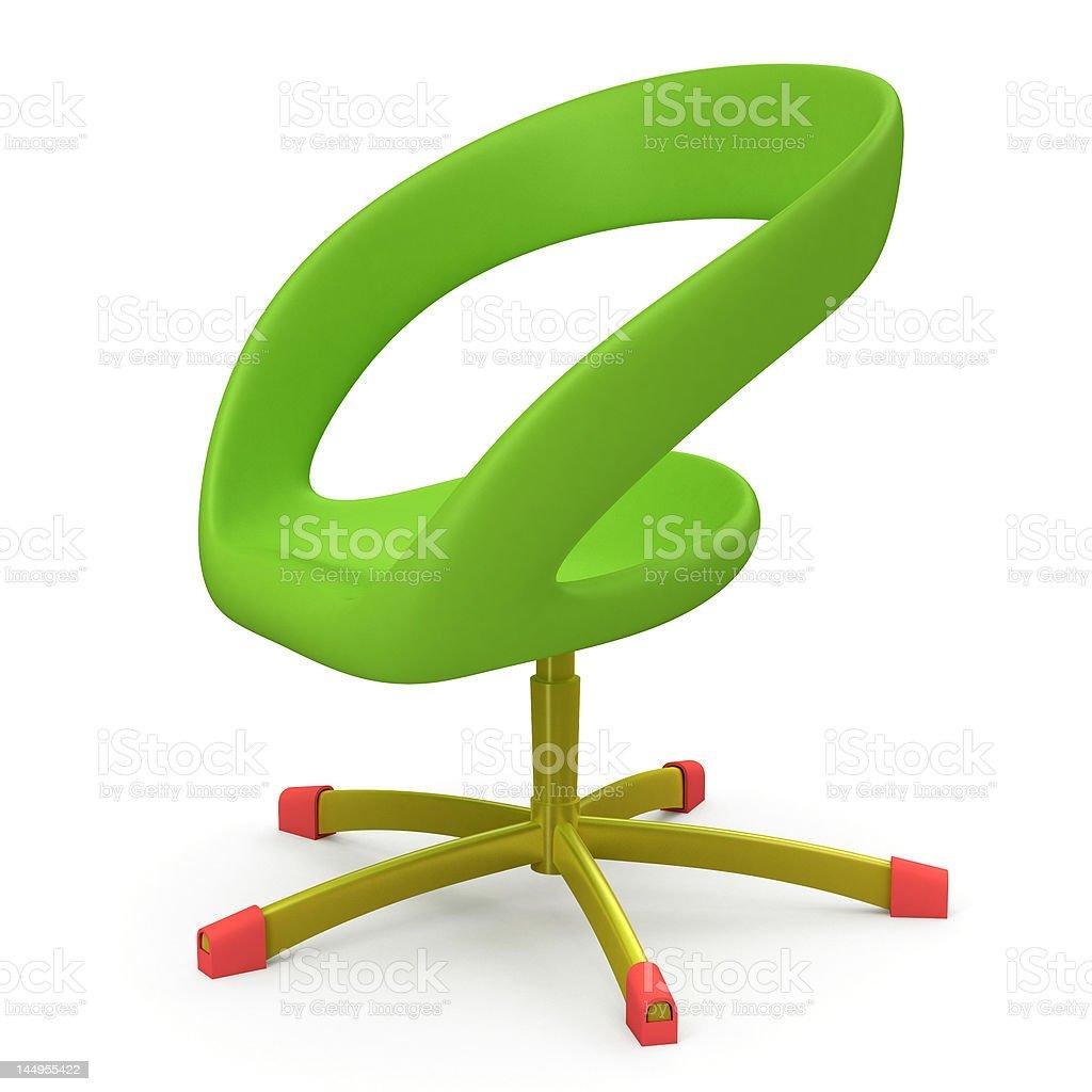 Green Seat Nut royalty-free stock photo