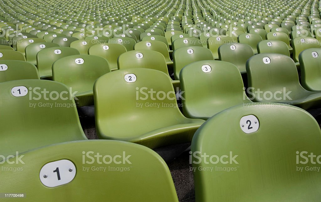 Green seats royalty-free stock photo