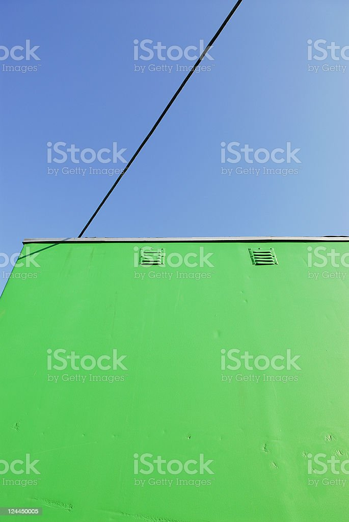 Green Shed Abstract stock photo