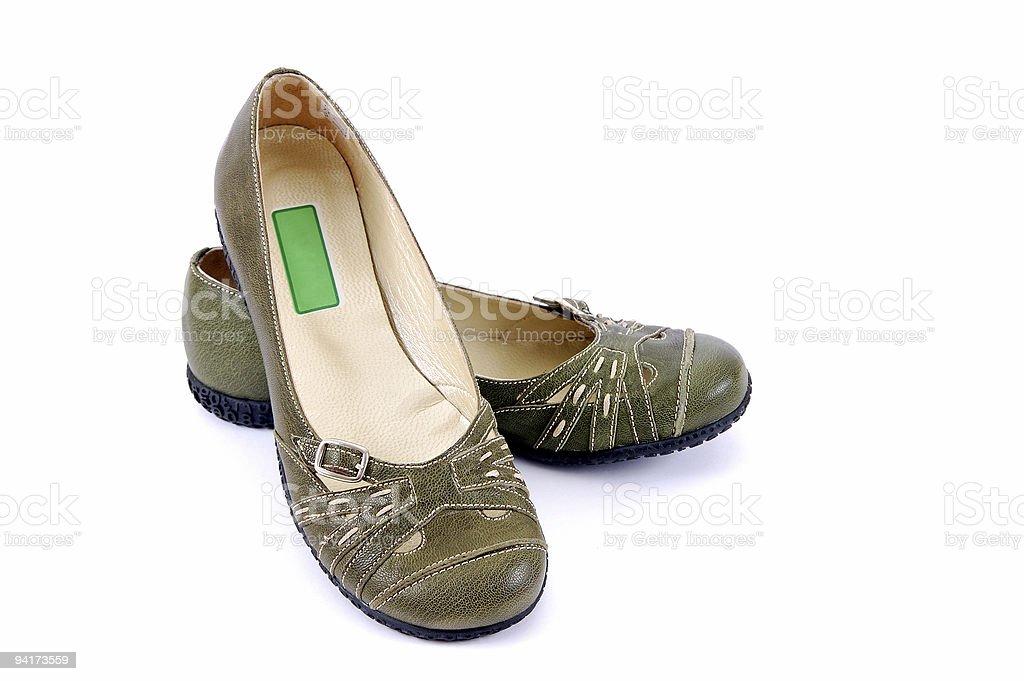 Green Shoe royalty-free stock photo