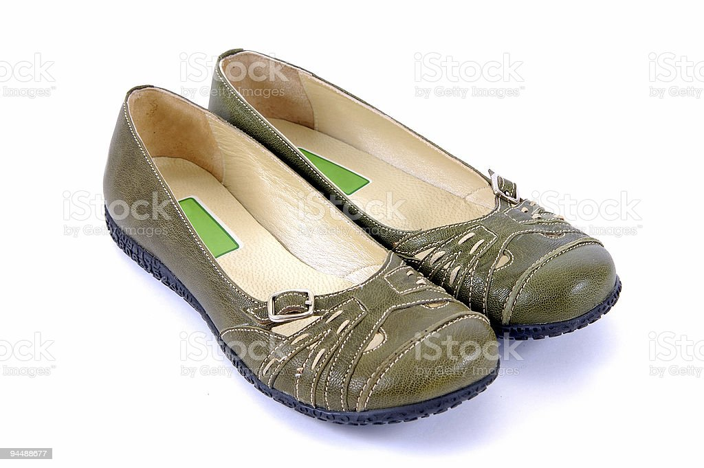 Green Shoe royalty-free stock photo