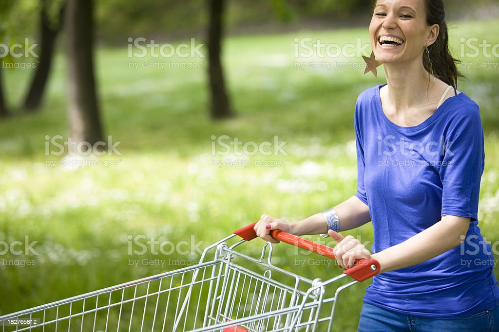 Green shopping royalty-free stock photo