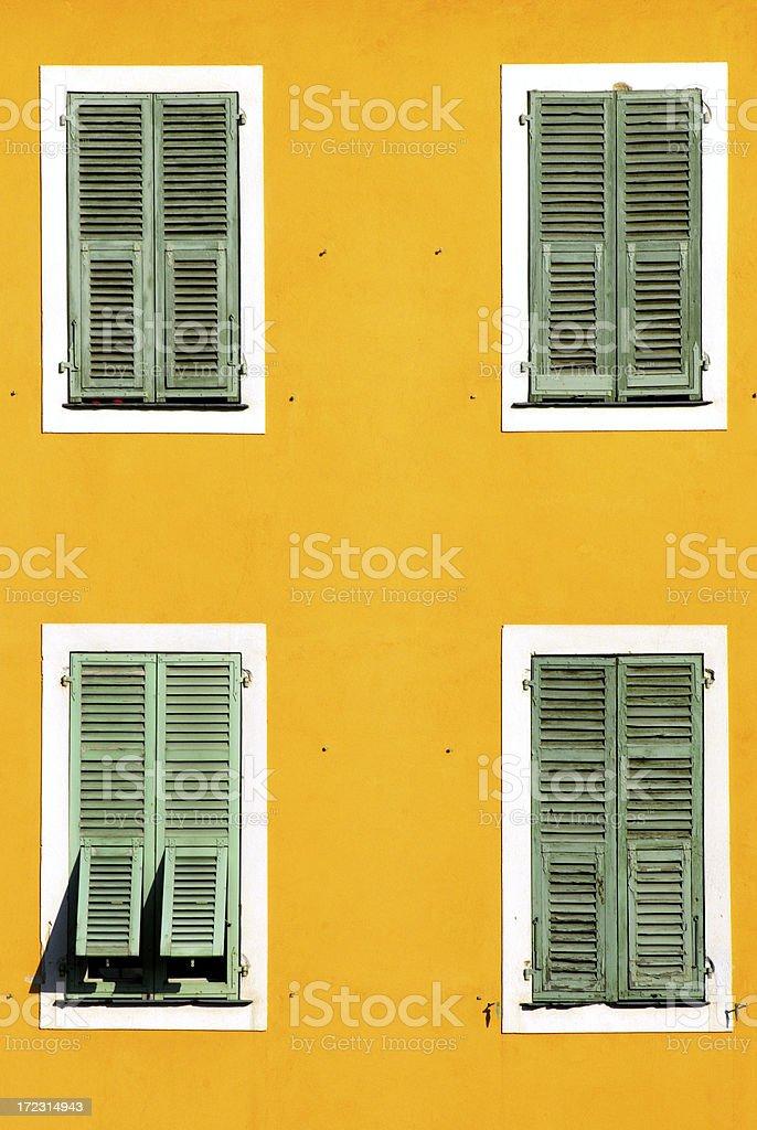 green shutter royalty-free stock photo