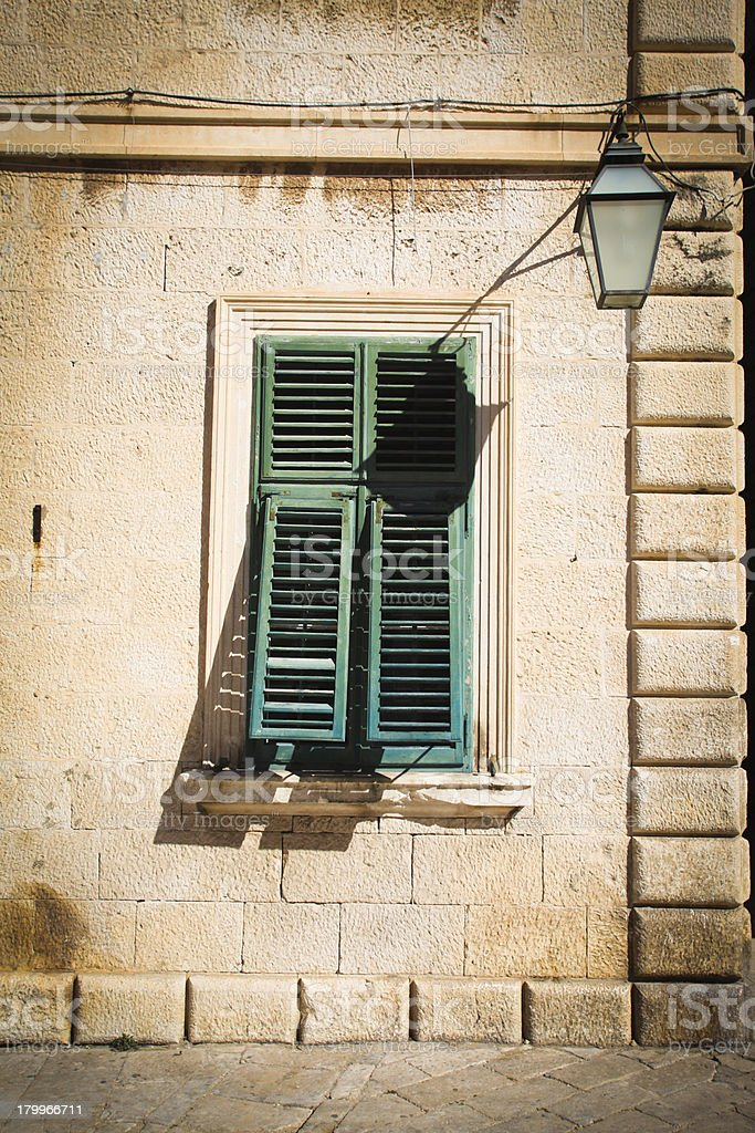 green shutters royalty-free stock photo