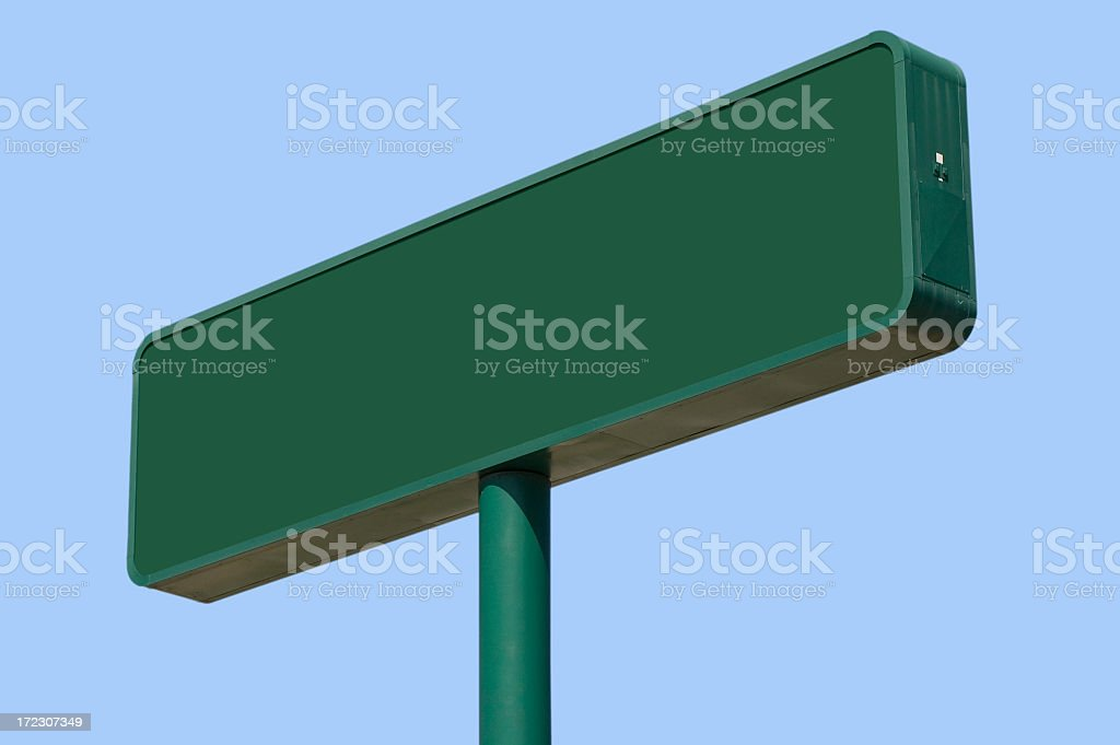 Green Sign (with Clipping path) royalty-free stock photo
