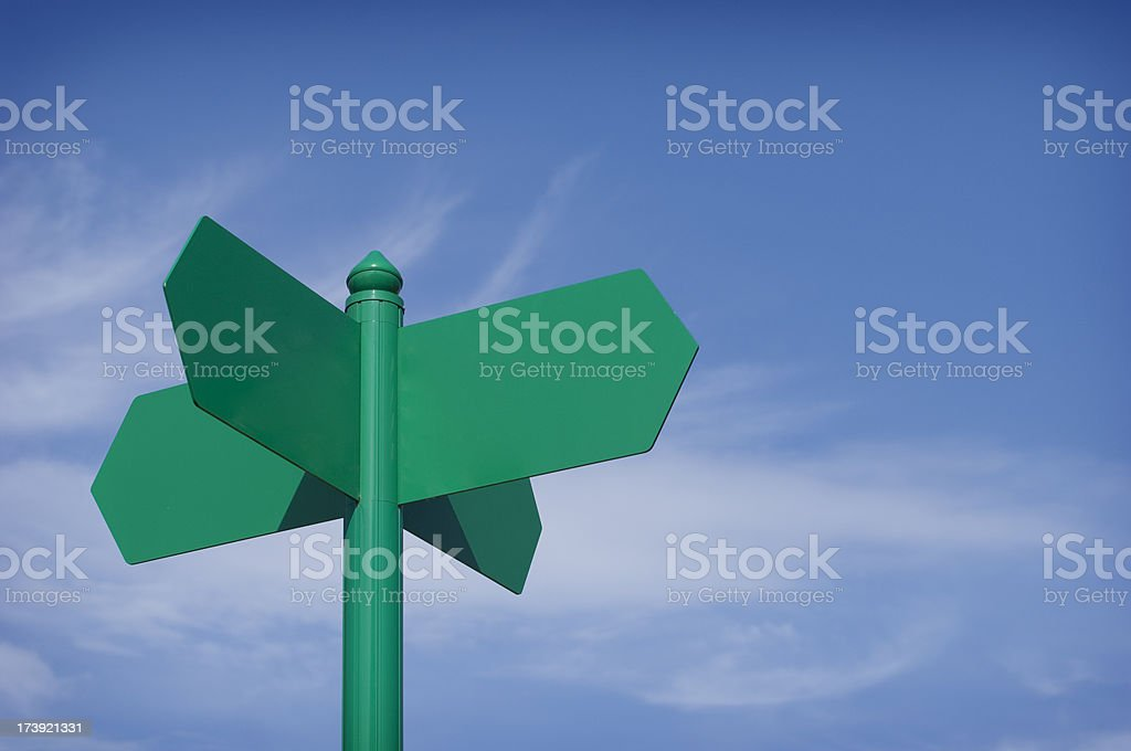 green sign royalty-free stock photo