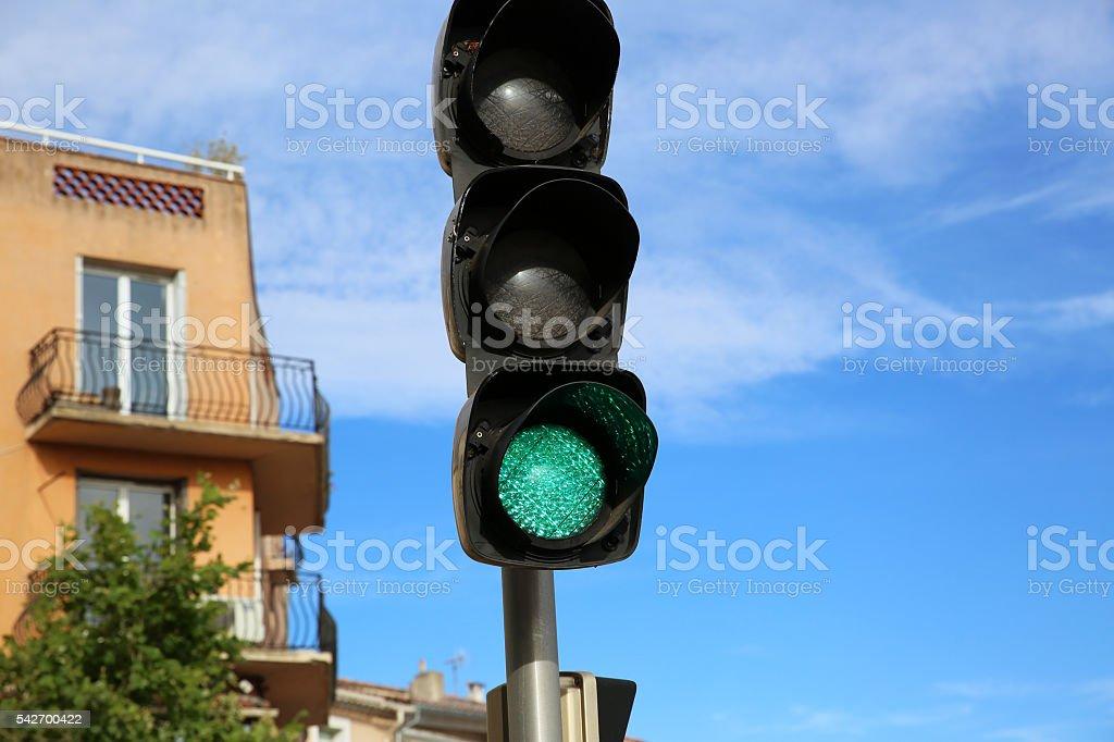 Green Signal Light stock photo
