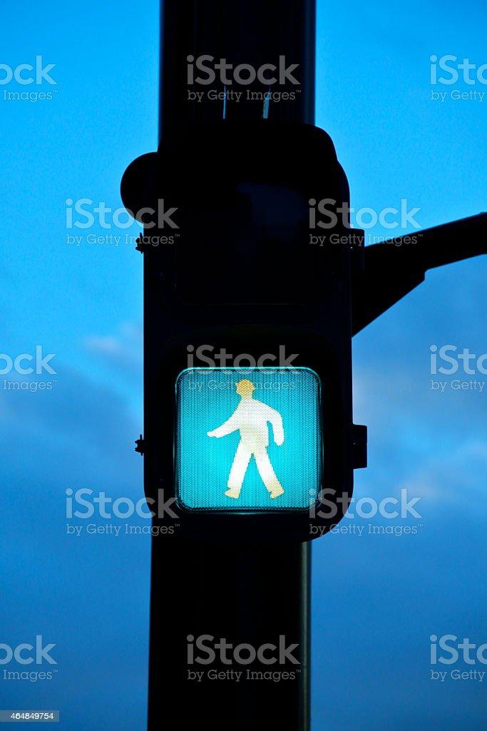 green signal stock photo