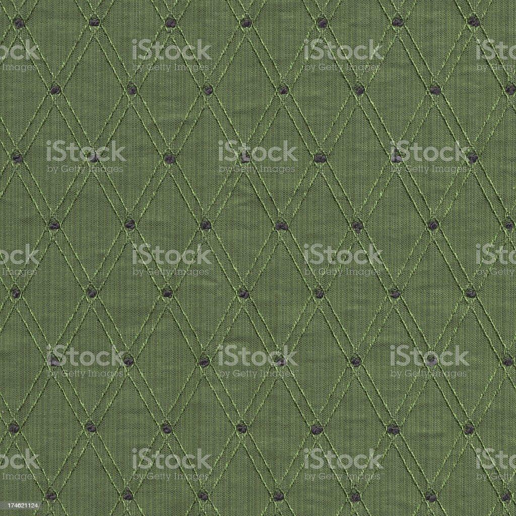 green silk with woven diamond pattern royalty-free stock photo